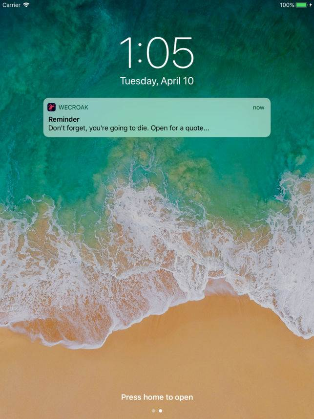 Umrećete. Aplikacija vas podseća na to. Svaki dan!