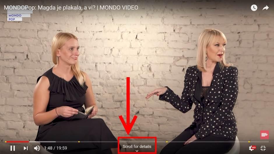 YouTube Scroll for more Full Screen gledanje videa i čitanje komentara i preporučenih videa