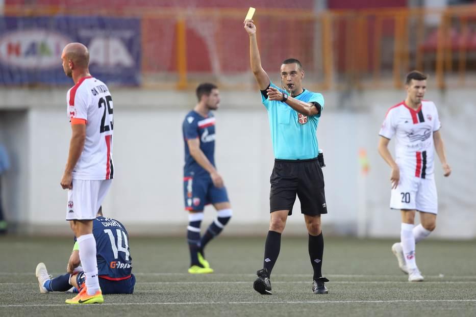 Miloš Đorđić na utakmici Voždovac - Crvena zvezda.