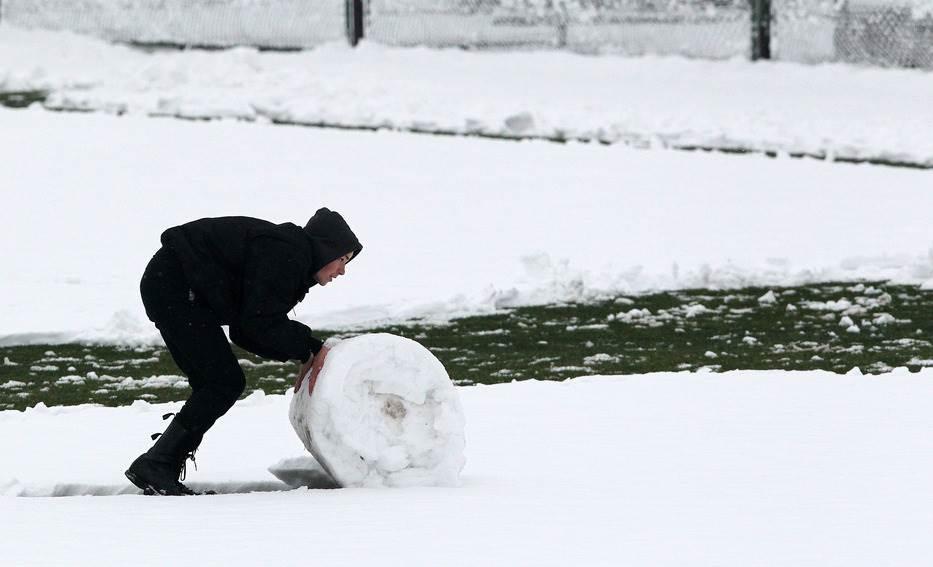sneg fudbal