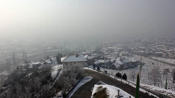 magla, smog, Sarajevo
