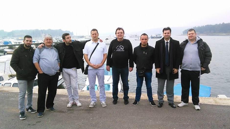 Novinari iz Banjaluke na pripremama Borca u Medulinu