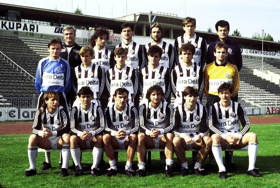 Tim Partizana 1986/87.