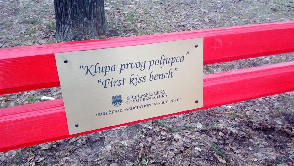 klupa, klupa prvog poljupca