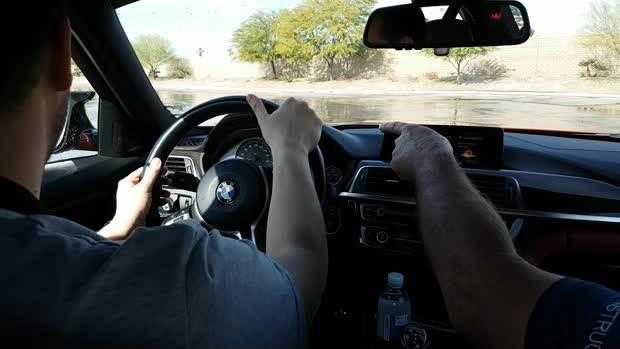 """BMW vožnja po """"ledu"""""""