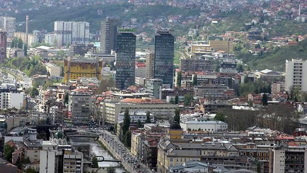 Sarajevo, centar, panorama
