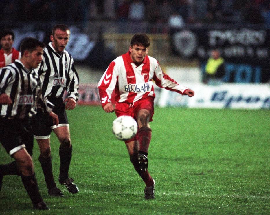 6. april 1994. godine: Albert Nađ, Saša Ćurčić i Dejan Petković na revanš utakmici polufinala Kupa Jugoslavije, koju je Partizan dobio rezultatom 3:1 i prošao u finale. Crvena zvezda je imala 1:0 iz prvog meča.