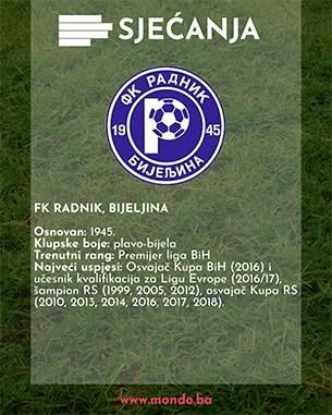 FK Radnik Bijeljina MONDO sjećanja