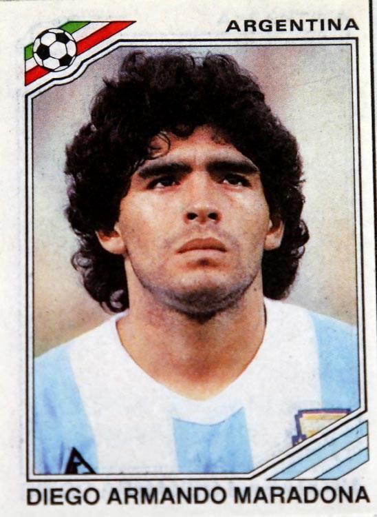 mundijal meksiko 86, panini sličice, argentina, maradona