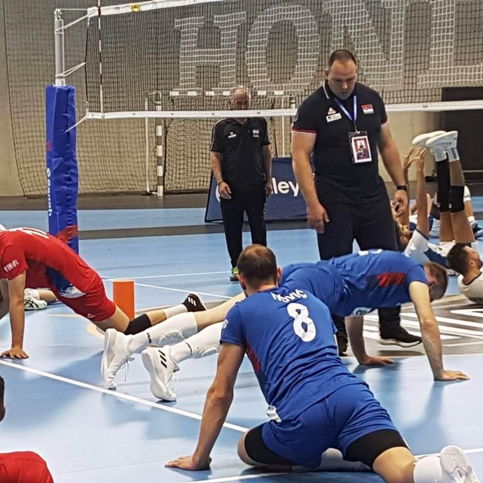 Aleksandar Petrović sa reprezentativcima Srbije
