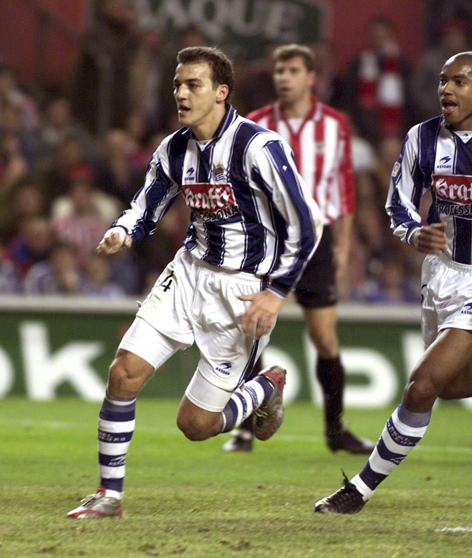 Darko Kovačević na prvoj utakmici u Real Sosijedadu protiv Atletik Bilbao, na stadionu San Mames.