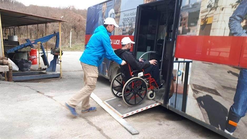 invalidska kolica, autobus