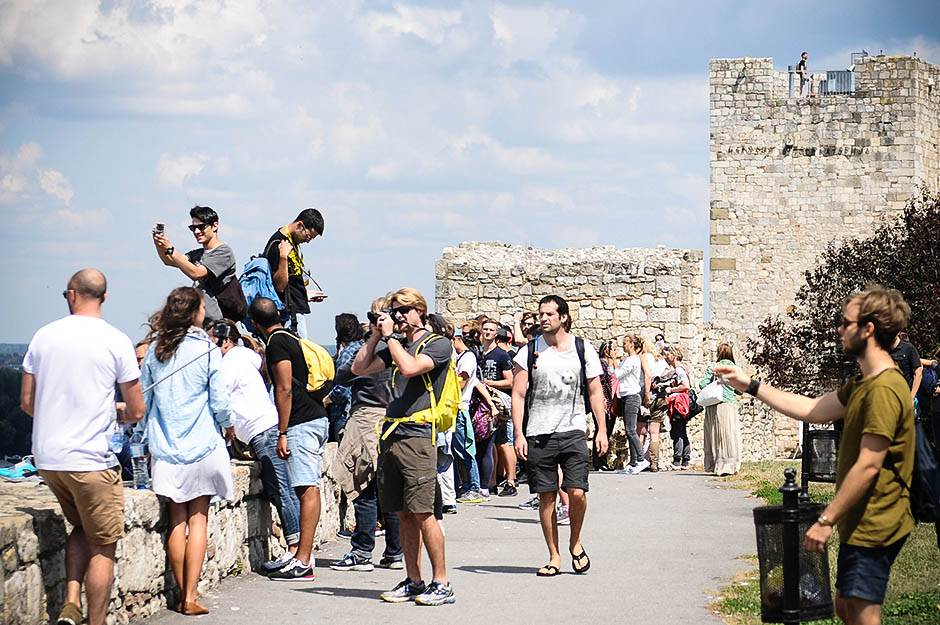 turisti, beograd, kalemegdan, ljudi, turizam, selfi