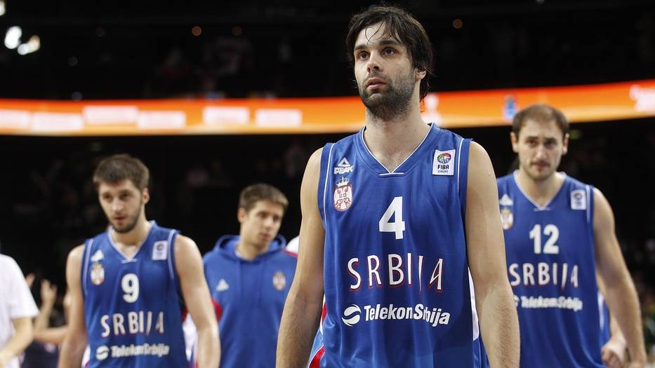 Plavi dresovi Srbije na Evrobasketu 2011. godine u Litvaniji.