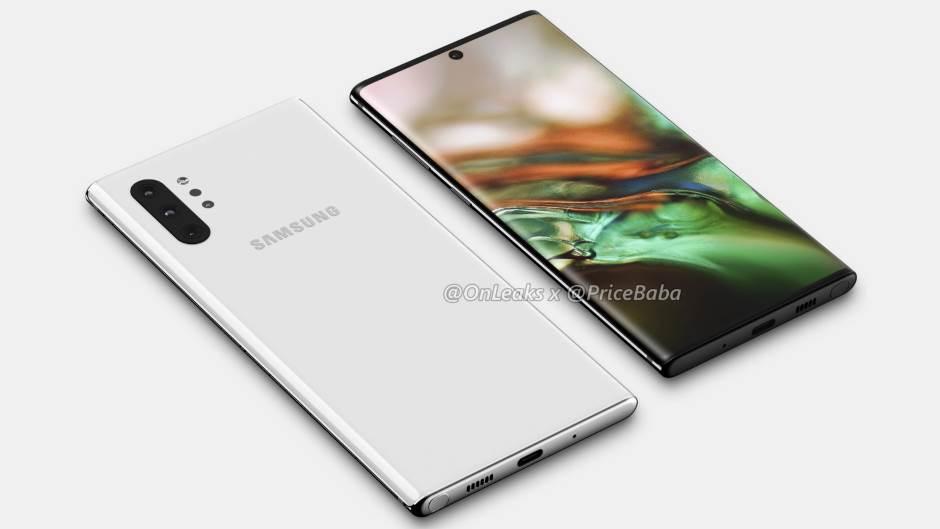 Samsung Galaxy Note 10 Pro: 360 renders