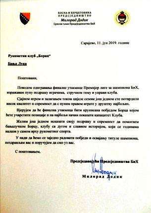 Dodik, RK Borac