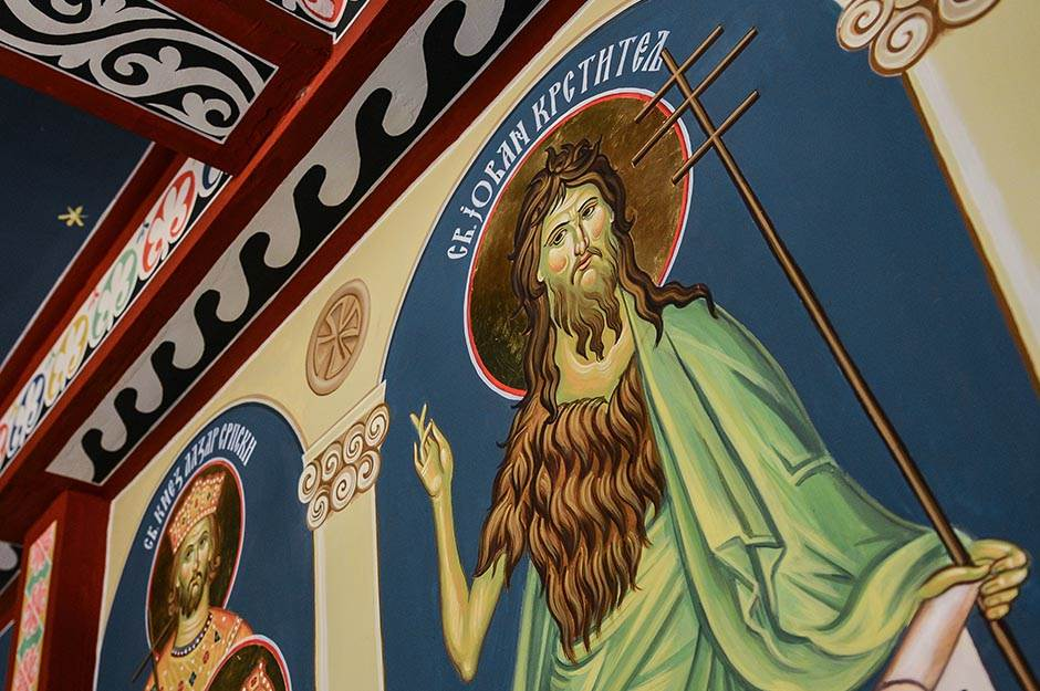 sveti jovan krstitelj, sveti jovan, krsna slava, crkva, ikona, freska, pravoslavci, pravoslavlje, slava, manastir, svetac