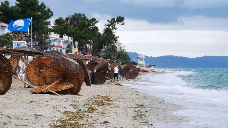 Halkidiki: Pogledajte plaže nakon nevremena
