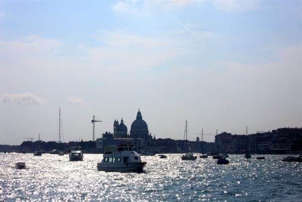 venecija, italija, kanal, more, brodovi, brod, luka