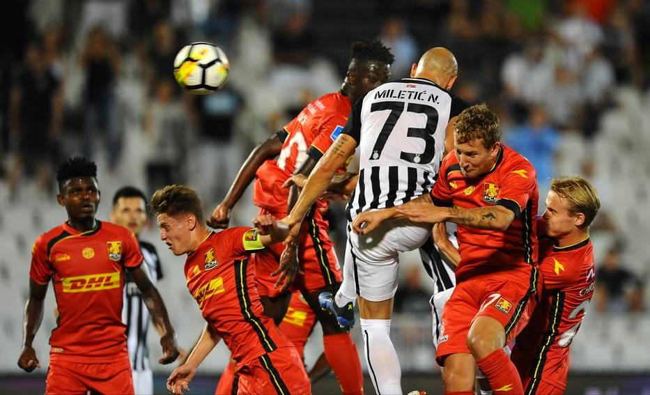 Detalj sa utakmice Partizan - Nordšeland u Beogradu.