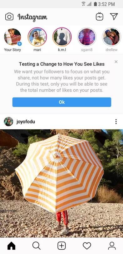 Kako izgleda Instagram bez lajkova (FOTO)