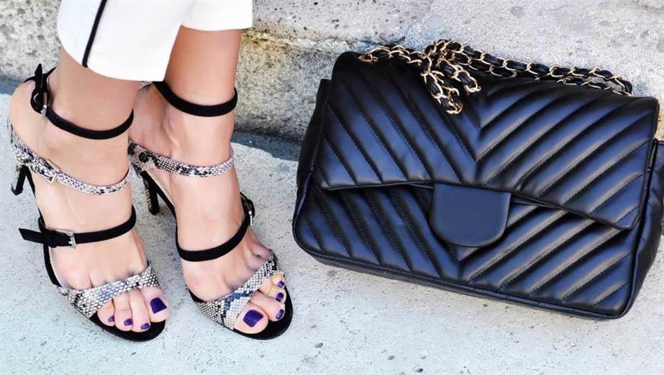 moda, štikle, torba