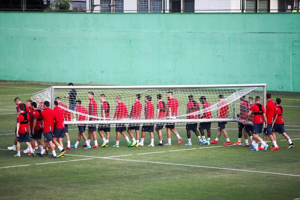Crvena zvezda, trening