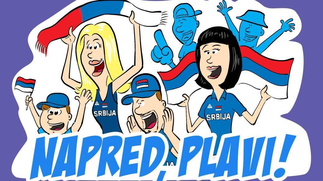 Preuzmite Viber stikere srpskih košarkaša