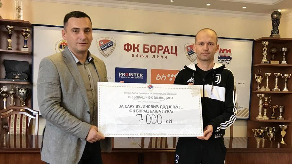 Borac i Vojvodina prikupili 7.000 KM za Saru
