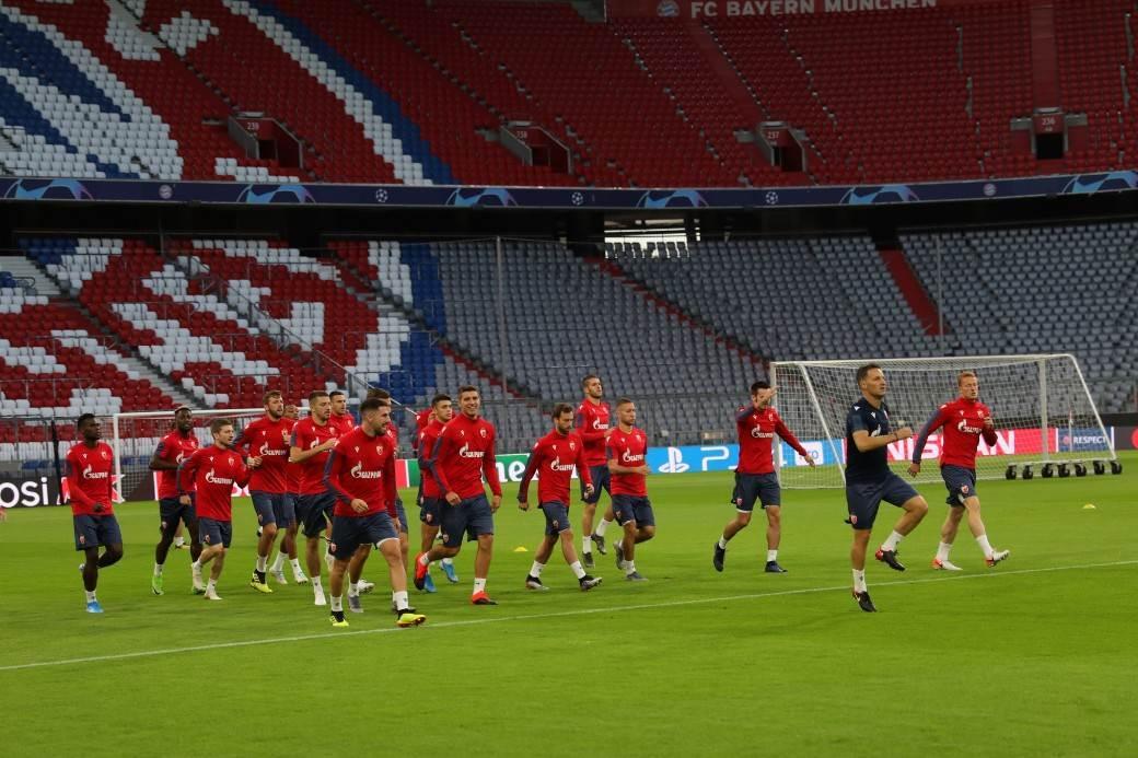 Crvena zvezda, Minhen, trening