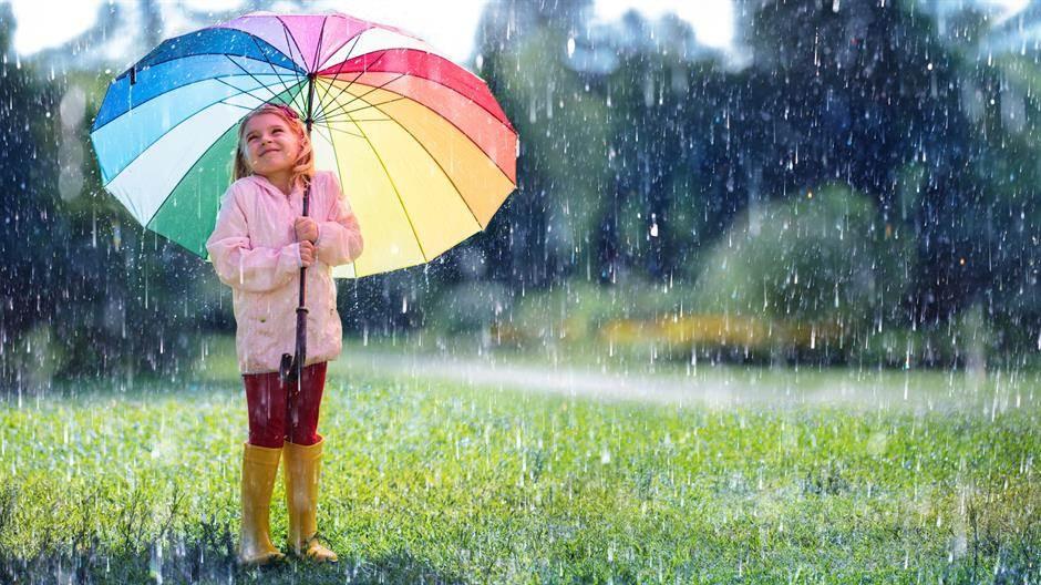 deca, djeca, djevojčica, devojčica, dete, dijete, kiša, duga, kišobran