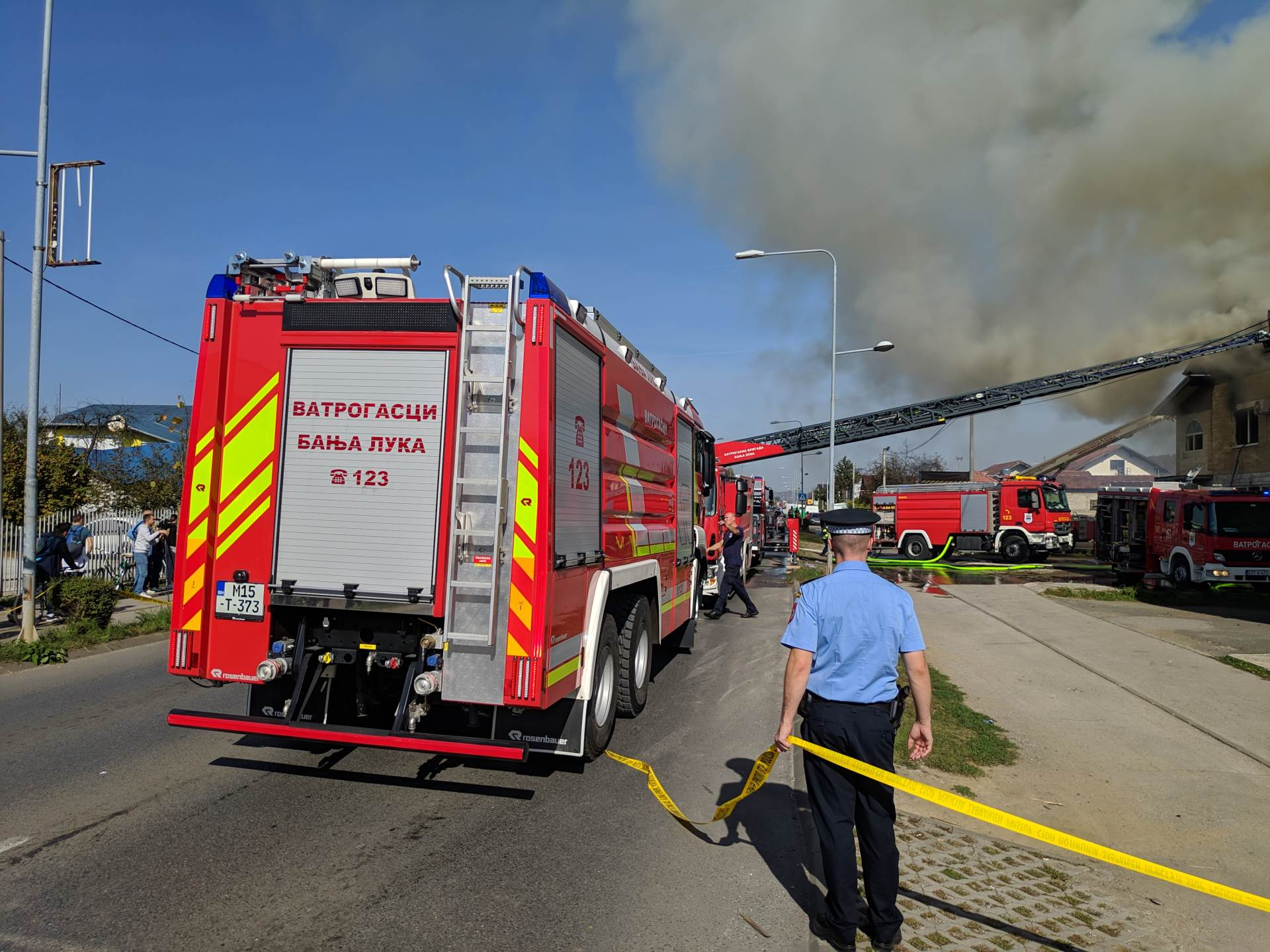 požar, vatrogasci, Lazarevo
