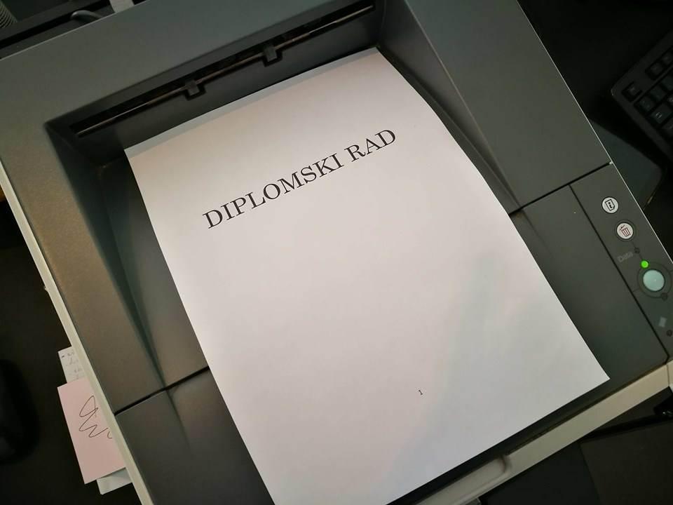 diplomski, štampač