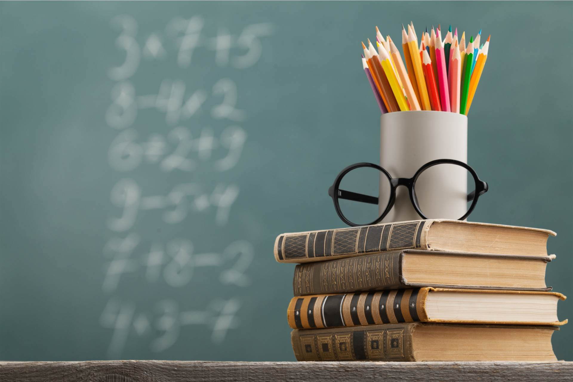 high,celebrate,concept,school,conceptual,books,pencils,internati