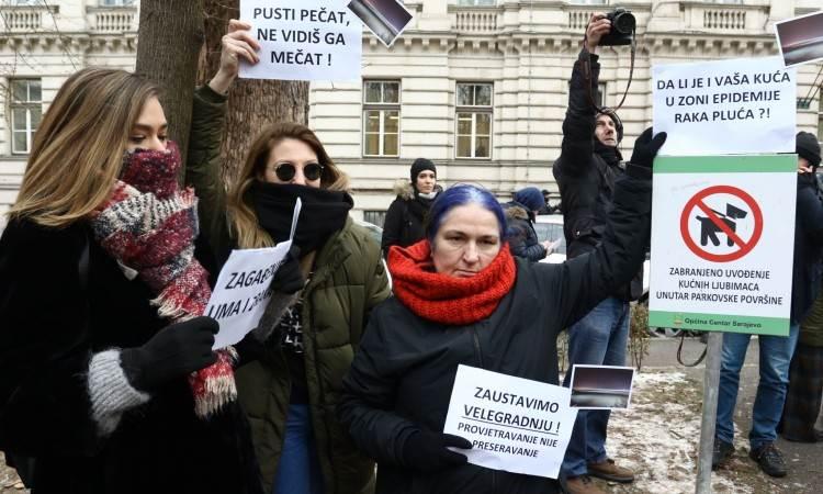zagađenje, sarajevo, protest