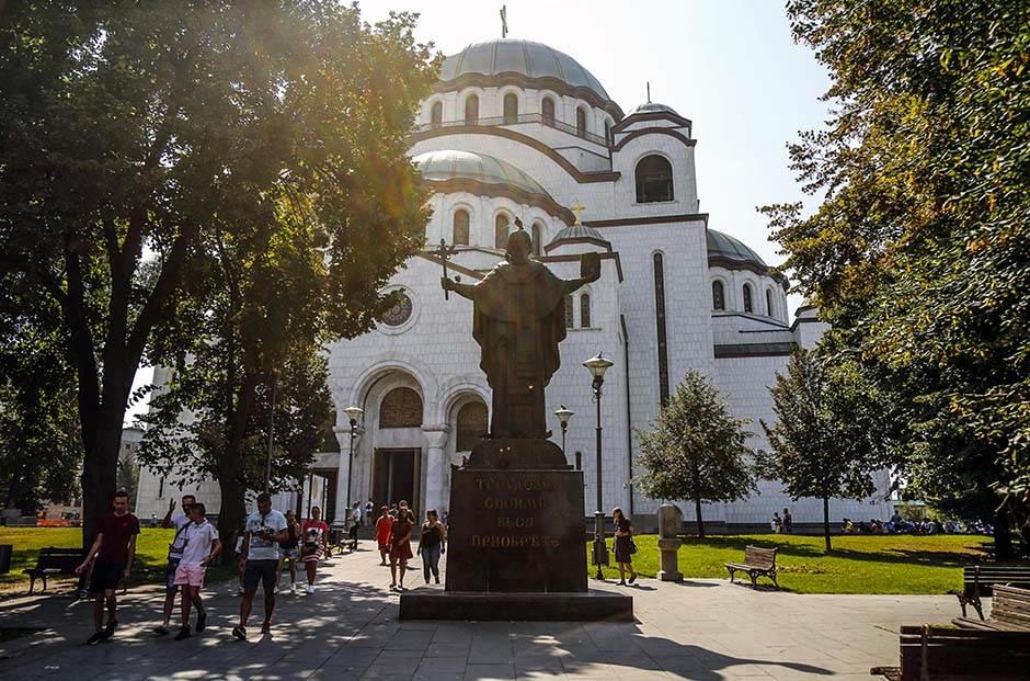 hram svetog save crkva spc vernici sveti sava pravoslavlje beograd