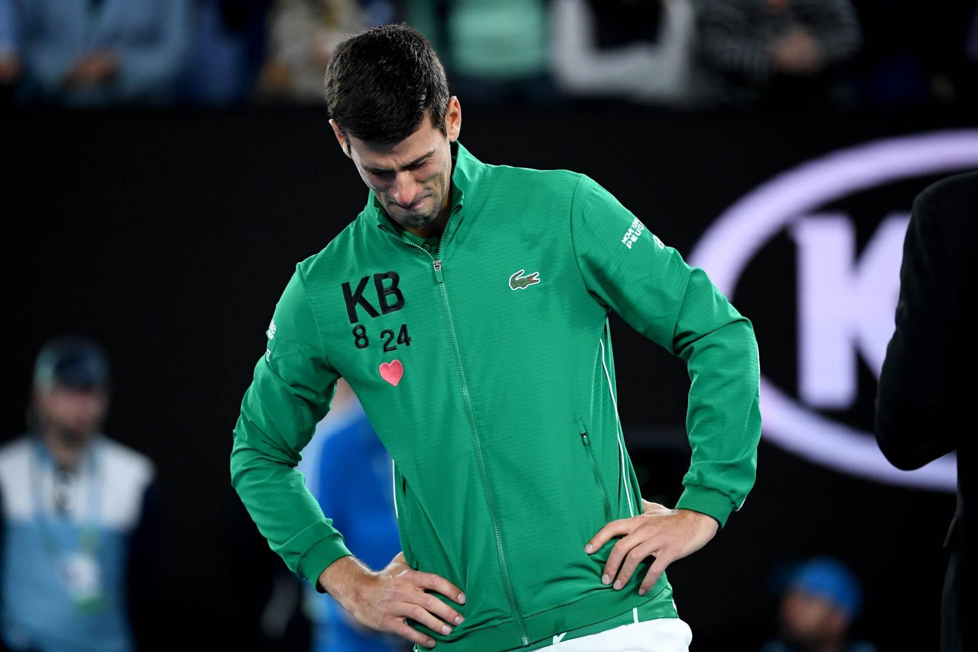 Novak Đoković plače