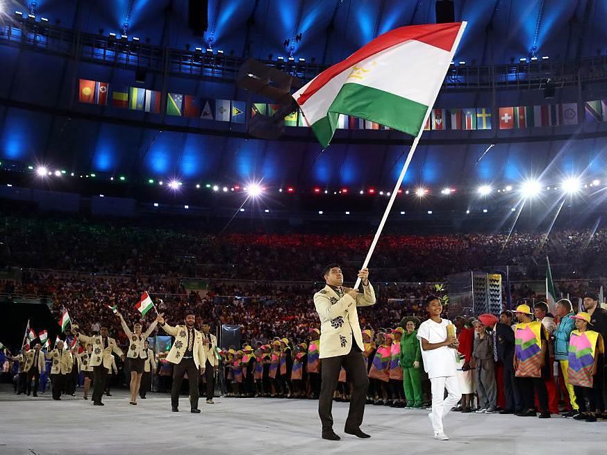 Tadžikistanski olimpijci na OI u Rio de Žaneiru.