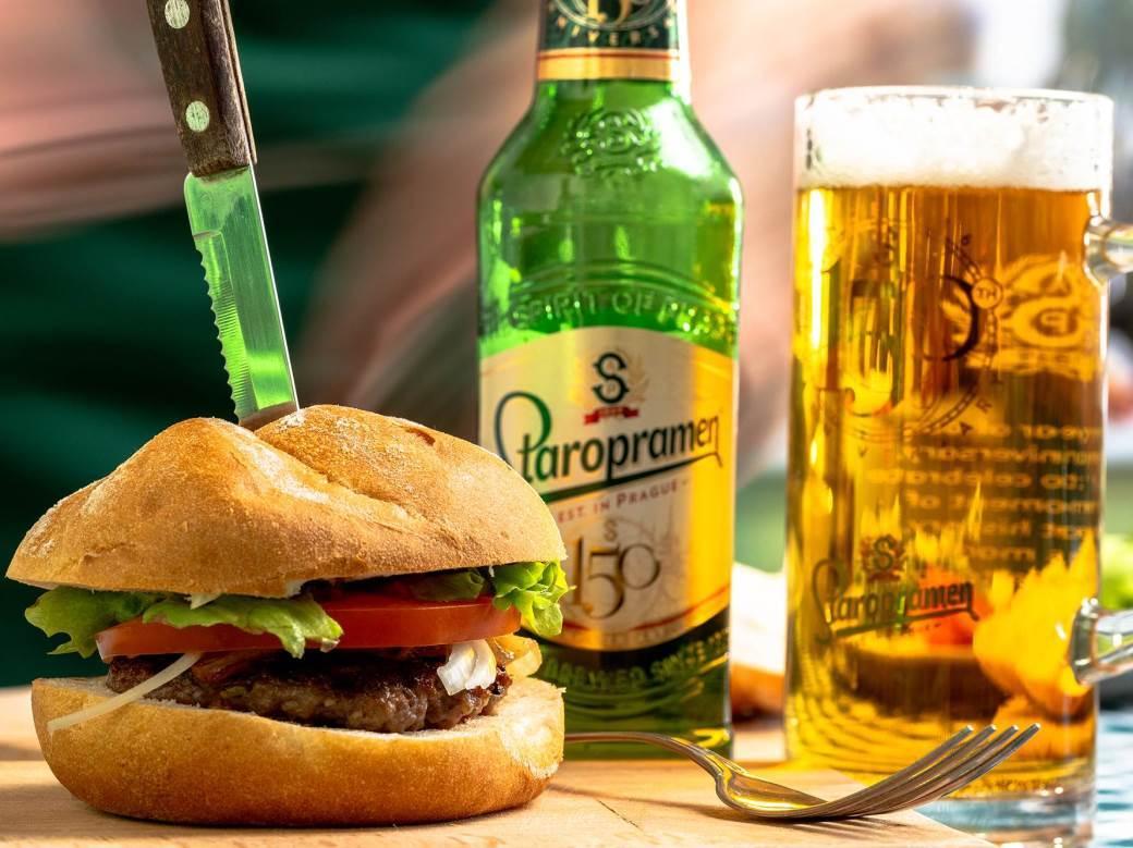 Staropramen, mondo kuhinja, burger