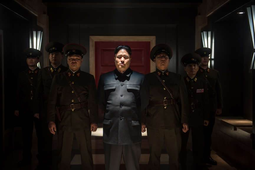 Kim Jong Un (Randall Park, center) in Columbia Pictures' THE INTERVIEW.
