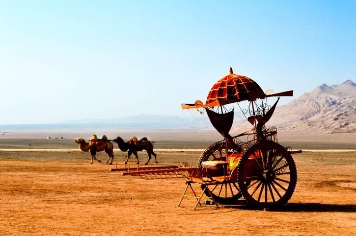 Pustinja, Azija. Taklimakan, kamile