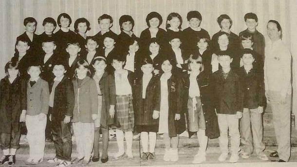 Slavko Guzijan sa učenicima