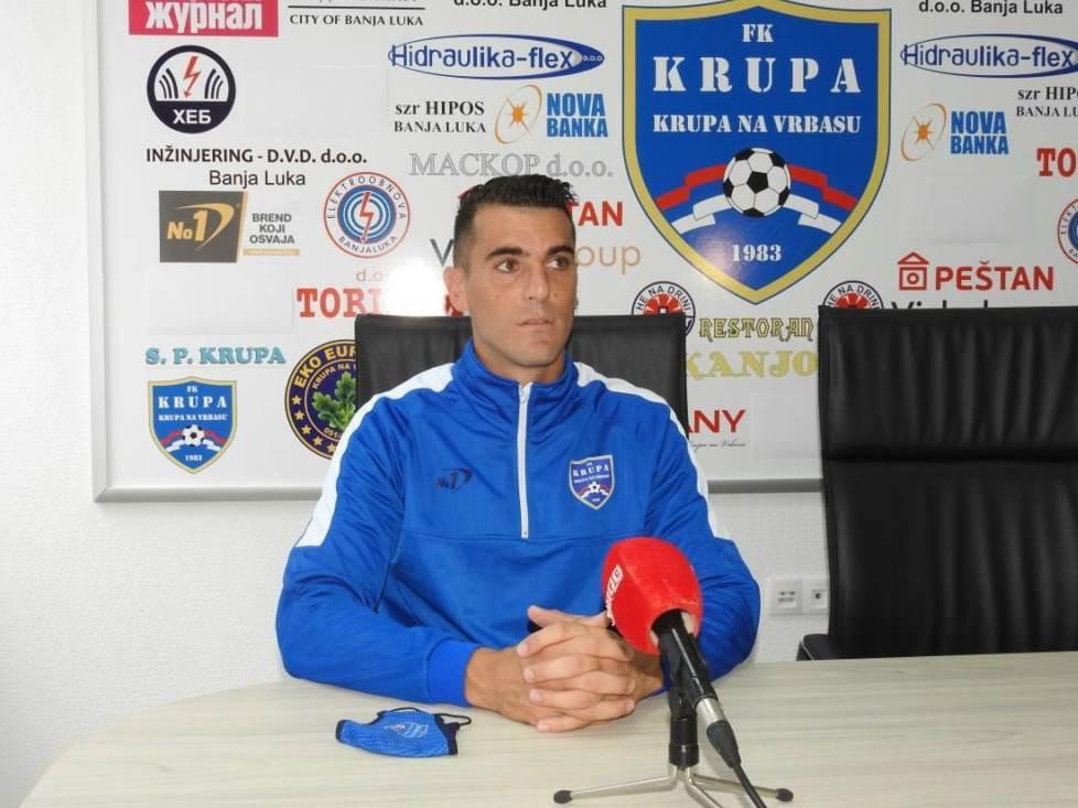 Stefan Nikolić, fudbal, Krupa