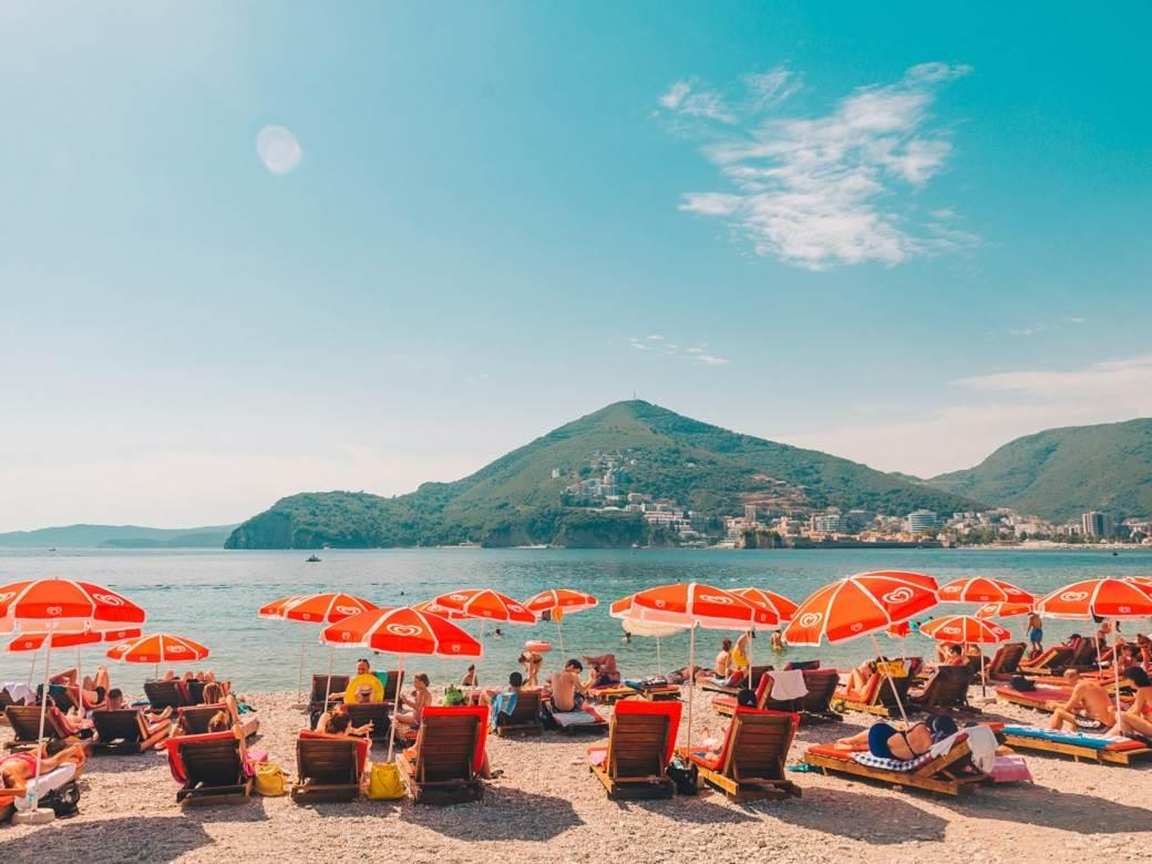 budva, more, crna gora, plaža