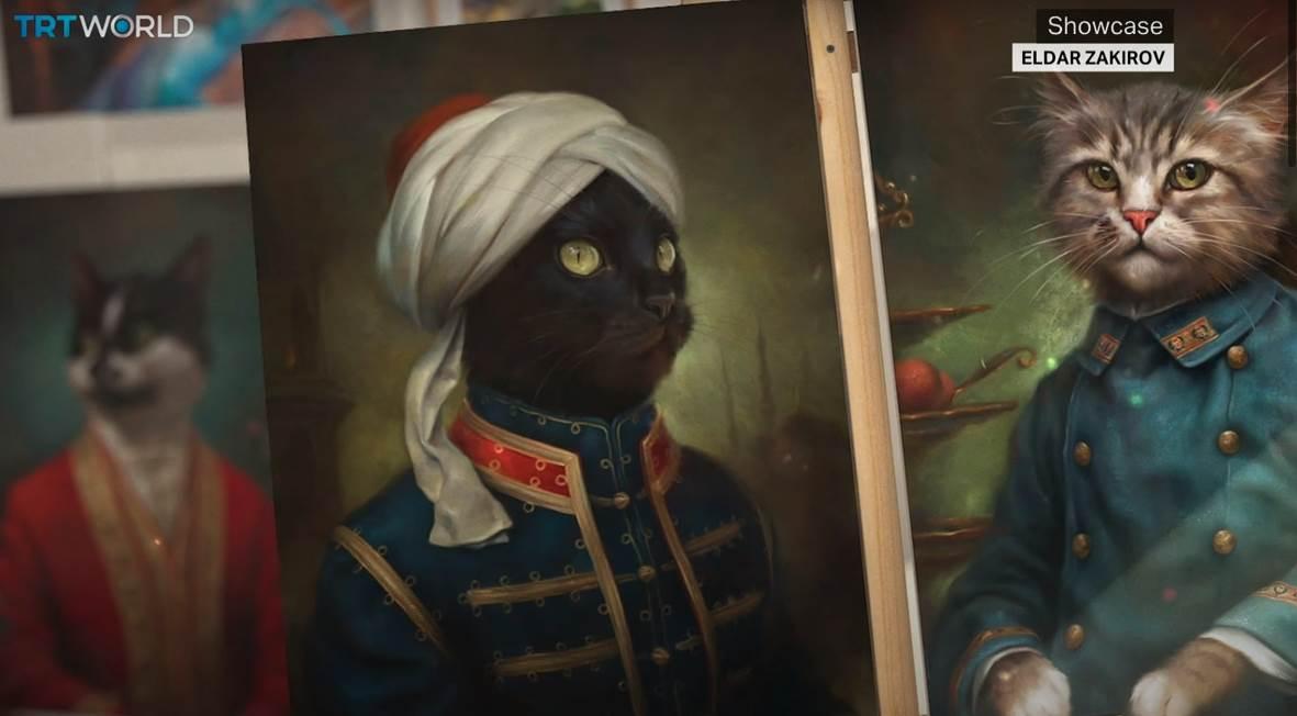 mačke, rusija, ermitraž
