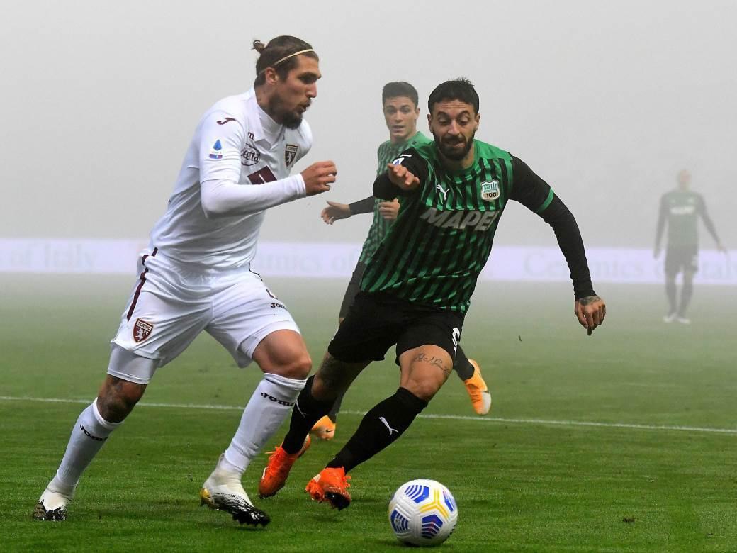 Lijanko Vojinović, Sasuolo - Torino