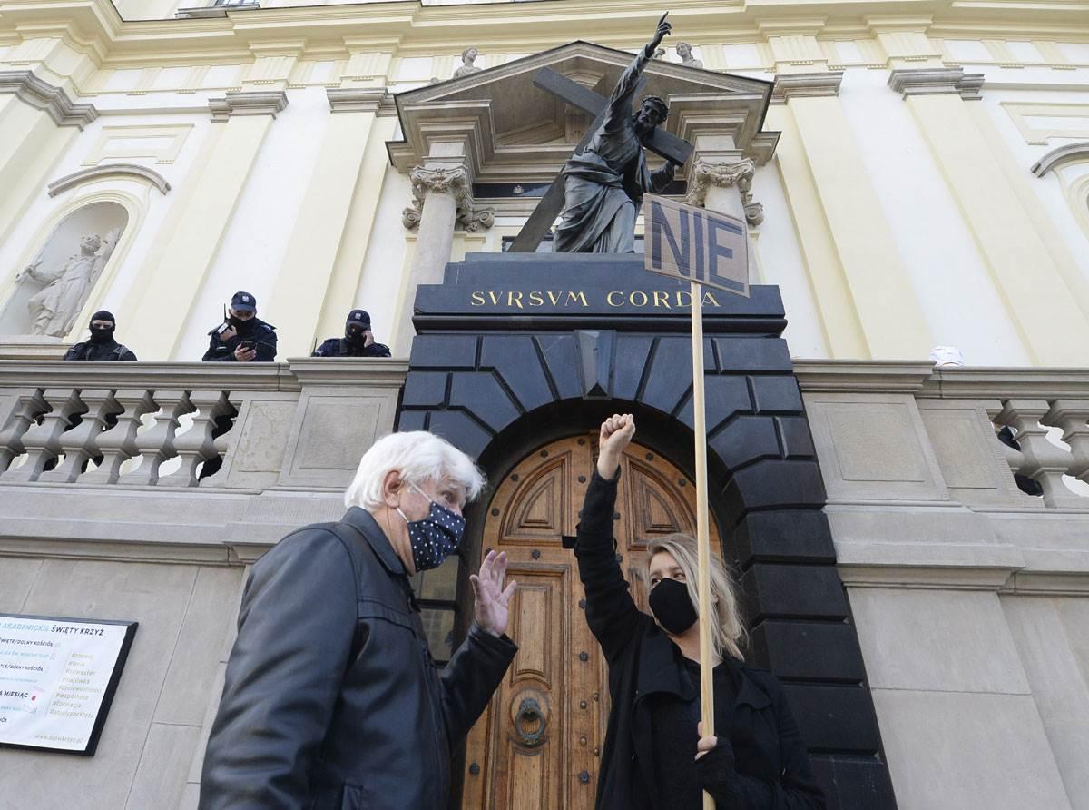 poljska, protest, abortus, zabrana
