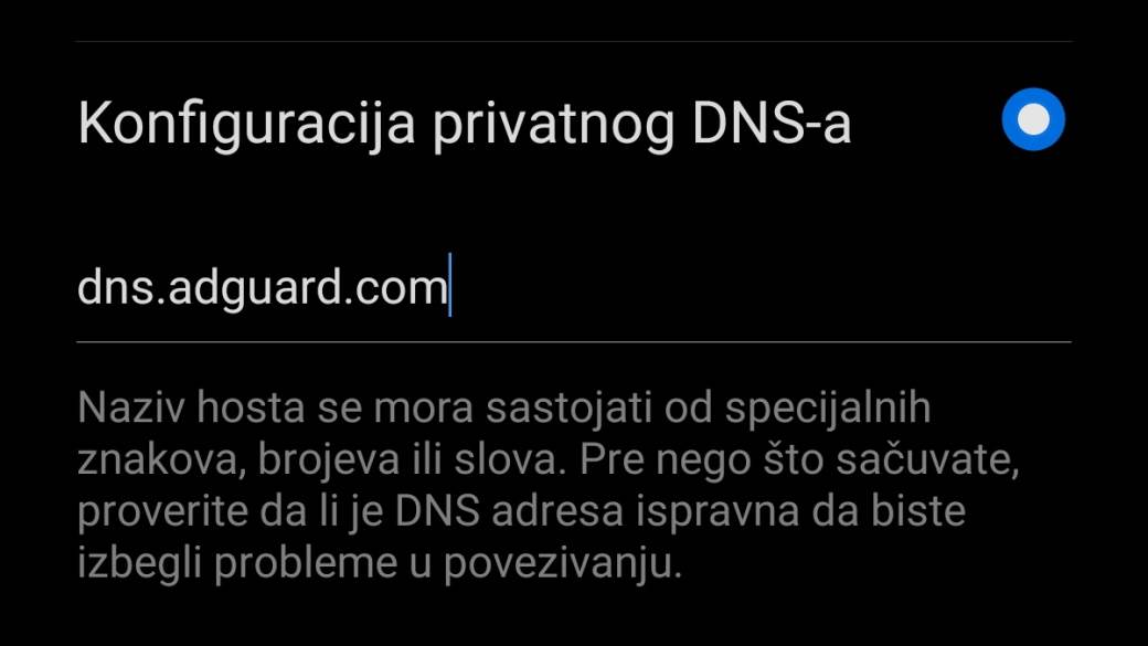 Blokiranje reklama Android telefoni