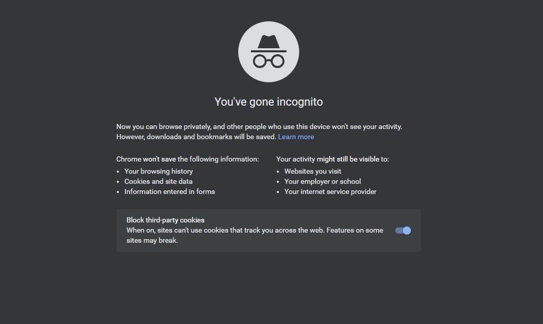 Google Chrome incognito (MobIT)