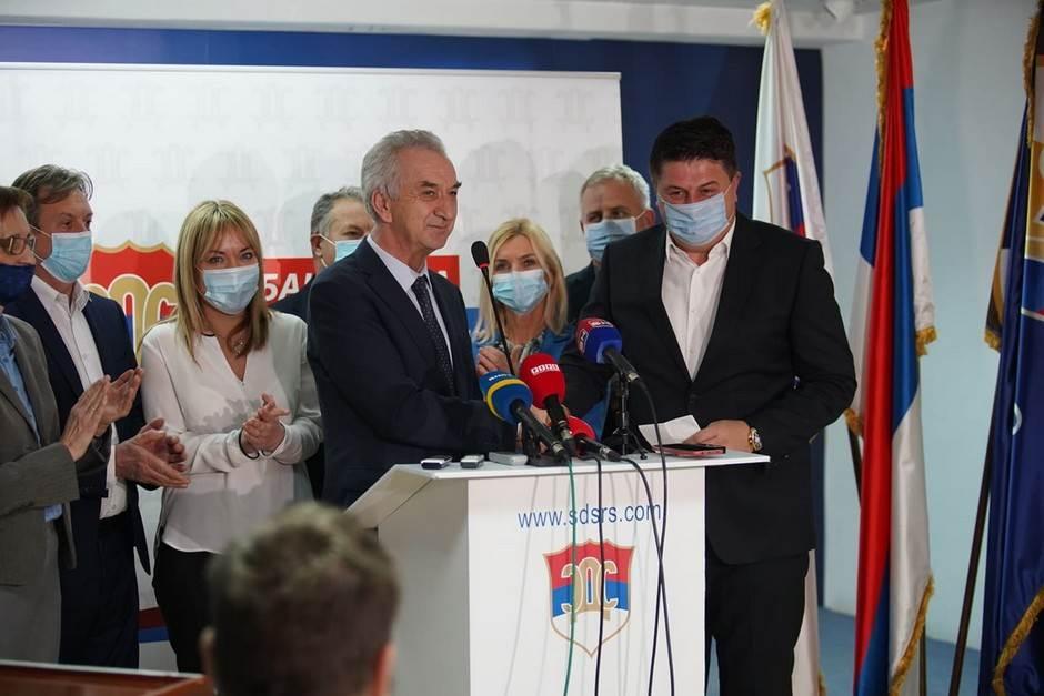 Milan Radović, Mirko Šarović, SDS